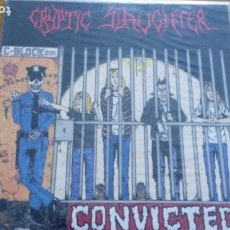 Discos de vinilo: CRYPTIC SLAUGHTER CONVICTED LP 1986 CON INSERTO. Lote 262053250