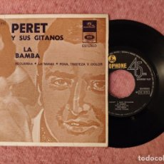 "Discos de vinilo: 7"" PERET Y SUS GITANOS - LA BAMBA +3 - PARLOPHONE 8E 016 - 20 916 - EP PORTUGAL PRESS (EX-/EX-). Lote 262053460"