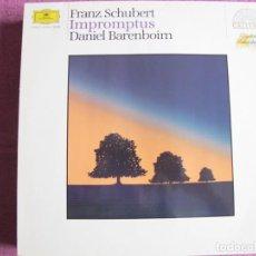 Dischi in vinile: LP - SCHUBERT - IMPROMPTUS (DANIEL BARENBOIM, PIANO) (GERMANY, DEUTSCHE GRAMMOPHON 1978). Lote 262056405