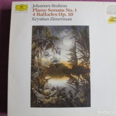 Dischi in vinile: LP - BRAHMS - PIANO SONATA Nº 1/4 BALADAS (KRYSTIAN ZIMERMAN, PIANO). Lote 262056870