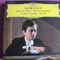 Dischi in vinile: LP - DEBUSSY - CLARO D ELUNA / PIEZAS PARA PIANO (TAMAS VASARY, PIANO). Lote 262057545