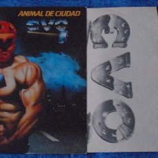 Discos de vinilo: EVO SPAIN LP 1983 ANIMAL DE CIUDAD SPANISH HARD ROCK HEAVY METAL MUY BUEN ESTADO INSERT + LETRAS VER. Lote 262058745