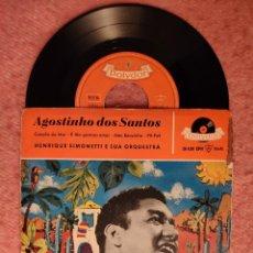 """Discos de vinilo: 7"""" AGOSTINHO DOS SANTOS - CANÇÃO DO MAR +3 - POLYDOR 20 620 EPH - EP GERMANY PRESS (VG+/VG+). Lote 262058940"""