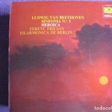 Disques de vinyle: LP - BEETHOVEN - SINFONIA Nº 3 (SPAIN, DEUTSCHE GRAMMOPHON 1975) FILARMONICA DE BERLIN, DR. FRICSAY. Lote 262062250