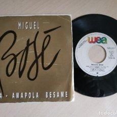 Discos de vinilo: MIGUEL BOSE - NENA / AMAPOLA BESAME - SINGLE PROMO WEA AÑO 1986 VINILO NUEVO - CARPETA BUEN ESTADO. Lote 262062900