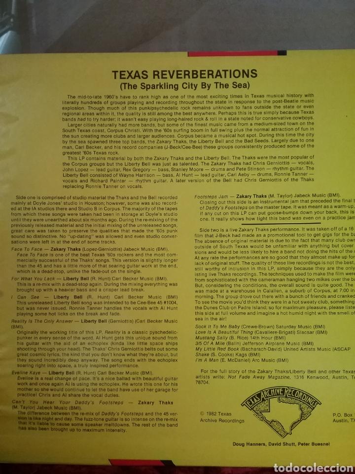 Discos de vinilo: TEXAS REVERBERATIONS Zakary Thaks / Liberty Bell. TEXAS ARCHIVES RECORDINGS 1982 - Foto 2 - 262069890