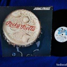 Discos de vinilo: JUDAS PRIEST - ROCKA ROLLA - LP 1974 - PRINTED IN GERMANY -. Lote 262070740