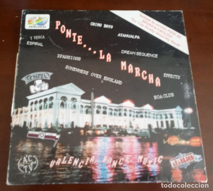 PONTE LA MARCHA - LP - 1991 - ESPIRAL - BROKEN ENGLISH - DREAM SEQUENCE (Música - Discos - LP Vinilo - Techno, Trance y House)