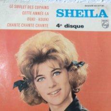 Discos de vinilo: SHEILA.** LE SIFFLEIT DES COPAINS * CETTE ANNE- LA * OUKI KOUKI * CHANTE..**. Lote 262079895