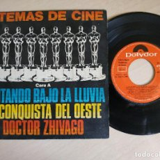 Discos de vinilo: 6 TEMAS DE CINE - CANTANDO BAJO LA LLUVIA / LA CONQUISTA DEL OESTE / DOCTOR ZHIVAGO +3 - EP EX++. Lote 262083115