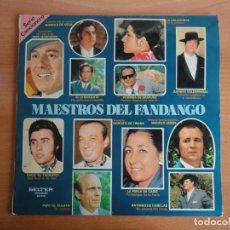 Discos de vinilo: LP VINILO. MAESTROS DEL FANDANGO (BELTER, 1974). Lote 262087715