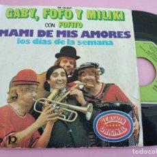 Discos de vinilo: GABY, FOFO Y MILIKI CON FOFITO. MAMI DE MIS AMORES. MOVIEPLAY.. Lote 262088005