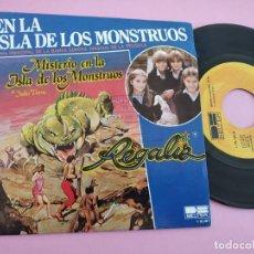 Discos de vinilo: REGALIZ ( MISTERIO EN LA ISLA DE LOS MONSTRUOS) EN LA ISLA DE LOS MONSTRUOS + RATON VAQUERO - BELTER. Lote 262088335