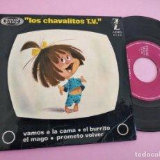 Discos de vinilo: LOS CHAVALITOS TV - VAMOS A LA CAMA + 3 (EP ZAFIRO 1964). Lote 262088965