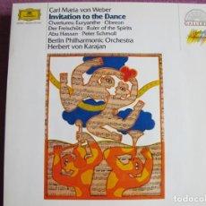 Dischi in vinile: LP - CARL MARIA VON WEBER - INVITATION TO THE DANCE (FILARMONICA DE BERLIN, DR. VON KARAJAN). Lote 262089360