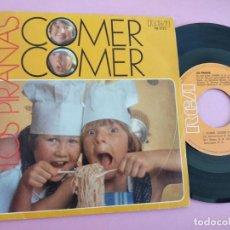 Discos de vinilo: LOS PIRAÑAS - COMER COMER DE LA SERIE DE TVE VERANO AZUL. Lote 262089675