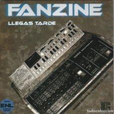 Discos de vinilo: FANZINE - LLEGAS TARDE (EP SYNTH POP SPAIN RECORDS 2008). Lote 262091275