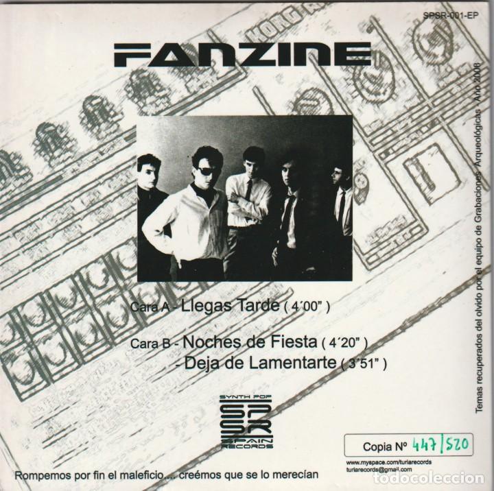 Discos de vinilo: FANZINE - LLEGAS TARDE (EP Synth Pop Spain Records 2008) - Foto 2 - 262091275