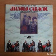 Discos de vinilo: LP VINILO. HOMENAJE A MANOLO CARACOL POR ENRIQUE ORTEGA (DIAL DISCOS, 1976). Lote 262092000