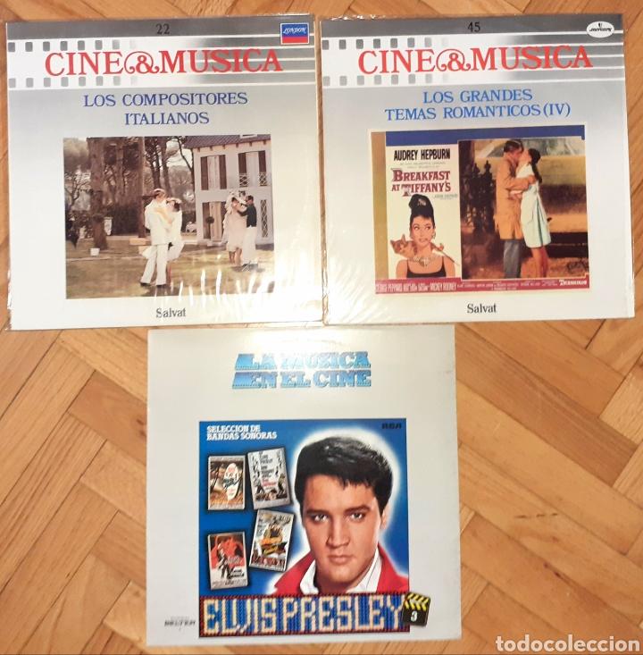 3 LP VINILOS CINE & MÚSICA ELVIS, COMPOSITORES ITALIANOS, TEMAS ROMÁNTICOS CINE (Música - Discos - LP Vinilo - Bandas Sonoras y Música de Actores )