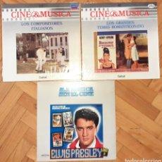 Discos de vinilo: 3 LP VINILOS CINE & MÚSICA ELVIS, COMPOSITORES ITALIANOS, TEMAS ROMÁNTICOS CINE. Lote 262092395