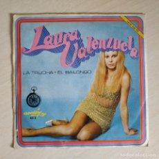 Discos de vinilo: LAURA VALENZUELA - LA TRUCHA / EL BAILONGO - 7'' SINGLE PROMO SELLO ACCION AÑO 1969 EXCELENTE ESTADO. Lote 262092980