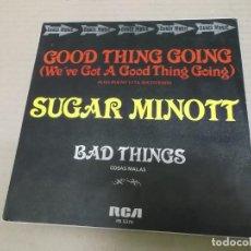 Discos de vinilo: SUGAR MINOTT (SINGLE) GOOD THING GOING AÑO 1981 - PROMOCIONAL. Lote 262094055