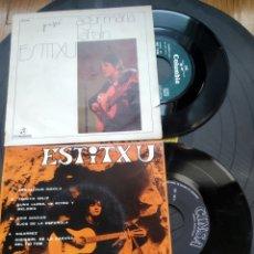 Discos de vinilo: LOTE VINILOS ESTITXU AGUR MARÍA1972 ESKUALDUN MAKILA 1968. Lote 262100245