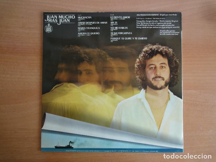 Discos de vinilo: LP Vinilo. Juan Pardo. Juan Mucho más Juan (HISPAVOX 1980) - Foto 2 - 262103495