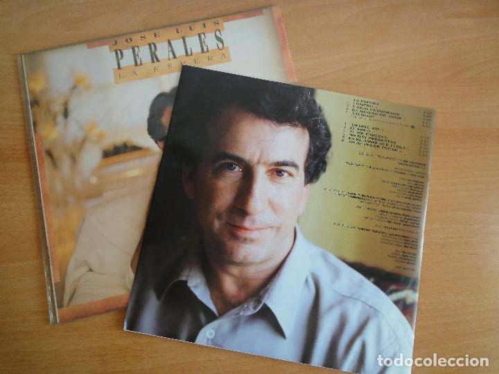 Discos de vinilo: LP Vinilo. José Luis Perales. La espera (CBS 1988) - Foto 3 - 262104025