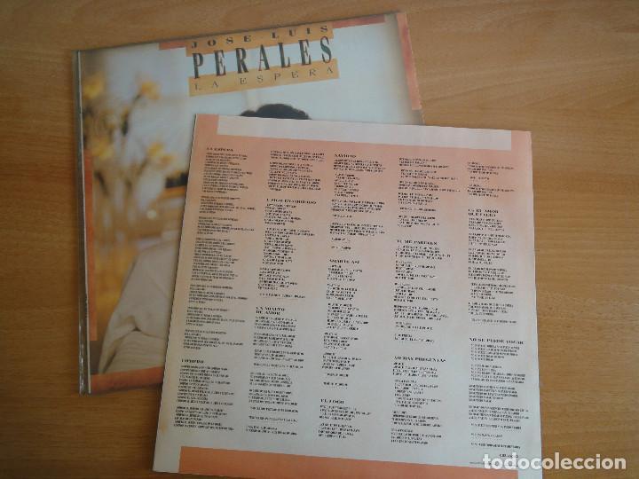 Discos de vinilo: LP Vinilo. José Luis Perales. La espera (CBS 1988) - Foto 4 - 262104025