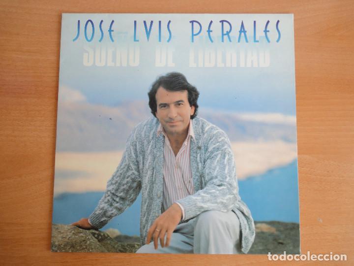 LP VINILO. JOSÉ LUIS PERALES. SUEÑO DE LIBERTAD. (CBS 1987) (Música - Discos - LP Vinilo - Cantautores Españoles)