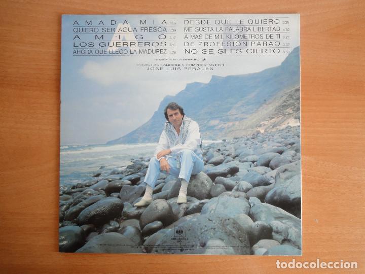 Discos de vinilo: LP Vinilo. José Luis Perales. Sueño de Libertad. (CBS 1987) - Foto 2 - 262104875