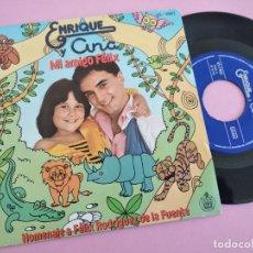 Discos de vinilo: ENRIQUE Y ANA - MI AMIGO FELIX + GARABATOS SINGLE 1980 SPAIN. Lote 262106805