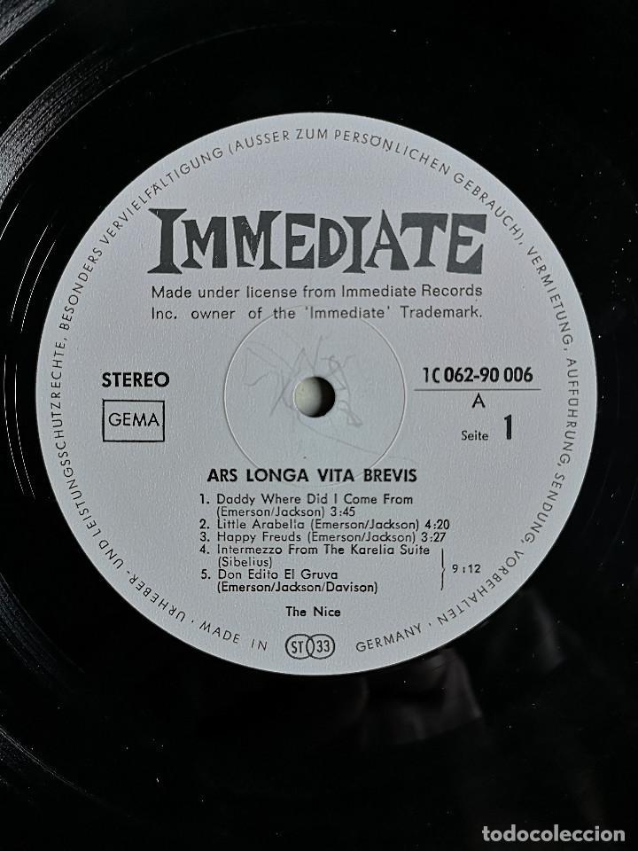 Discos de vinilo: VINILO LP - THE NICE - ARS LONGA VITA BREVIS - MADE IN GERMANY - 1969 - Foto 5 - 262110765