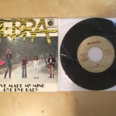 "Discos de vinilo: ZEBRA - I'VE MADE MY MIND / BYE BYE BABY - SINGLE PROMO 7"" - 1975 SPAIN. Lote 262111260"