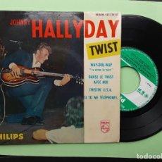 Discos de vinilo: EP JOHNNY HALLYDAY, WAD DOU WAP, DANSE LE TWIST AVEC MOI, TWISTIN U.S.A. + 1. Lote 262116285