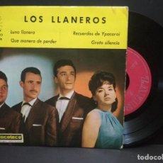 Discos de vinilo: LOS LLANEROS - LUNA LLANERA / RECUERDOS DE YPACARAI ...EP ZAFIRO 1963 PEPETO. Lote 262122795