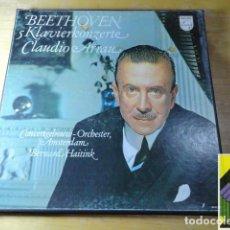 Discos de vinilo: BEETHOVEN: 5 KLAVIERKONZERTE CLAUDIO ARRAU,PIANO (BOX 4LP). Lote 262127760