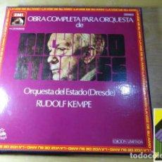 Discos de vinilo: RICHARD STRAUSS: OBRA COMPLETA PARA ORQUESTA (RUDOLF KEMPE) (BOX 10 LP). Lote 262129835