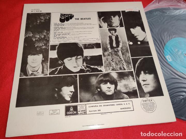 Discos de vinilo: THE BEATLES Rubber soul LP EMI Odeon AZUL CLARO 064-1041151 ESPAÑA SPAIN - Foto 2 - 262130485