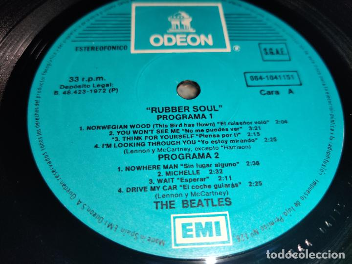 Discos de vinilo: THE BEATLES Rubber soul LP EMI Odeon AZUL CLARO 064-1041151 ESPAÑA SPAIN - Foto 3 - 262130485