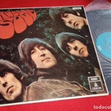 Discos de vinilo: THE BEATLES RUBBER SOUL LP EMI ODEON AZUL CLARO 064-1041151 ESPAÑA SPAIN. Lote 262130485