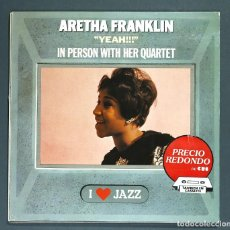 Discos de vinilo: LP DE ARETHA FRANKLIN: YEAH!!!; IN PERSON WITH HER QUARTET. CBS, 1983. MUY BUEN ESTADO.. Lote 262132930