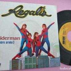 Discos de vinilo: REGALIZ - SPIDERMAN (HOMBRE ARAÑA) 1981. Lote 262134960