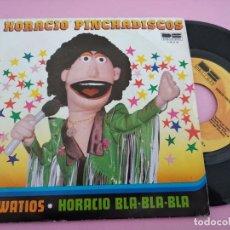 Discos de vinilo: HORACIO PINCHADISCOS - WATIOS + HORACIO BLA-BLA-BLA - BELTER (1981). Lote 262135755