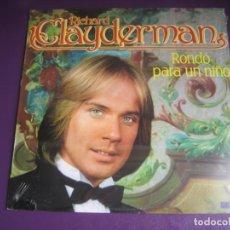 Discos de vinilo: RICHARD CLAYDERMAN – RONDÓ PARA UN NIÑO - LP HISPAVOX 1981 PRECINTADO - EASY LISTENING FRANCIA POP. Lote 262136710