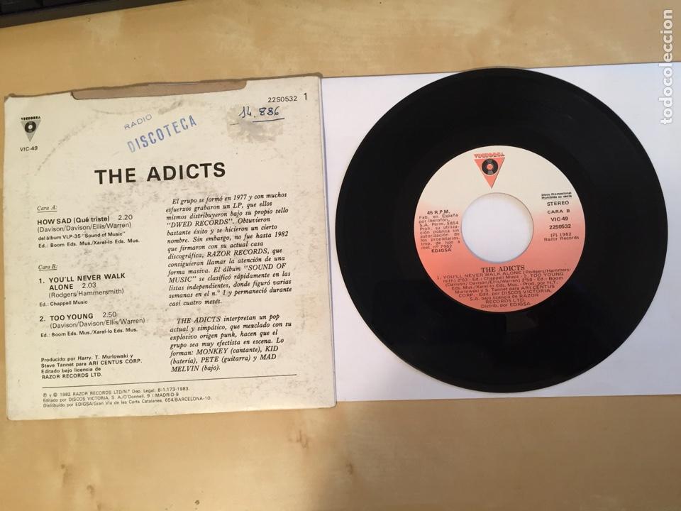 "Discos de vinilo: The Adicts - How Sad (Que Triste) - PROMO SINGLE 7"" - 1983 - Foto 3 - 262140035"