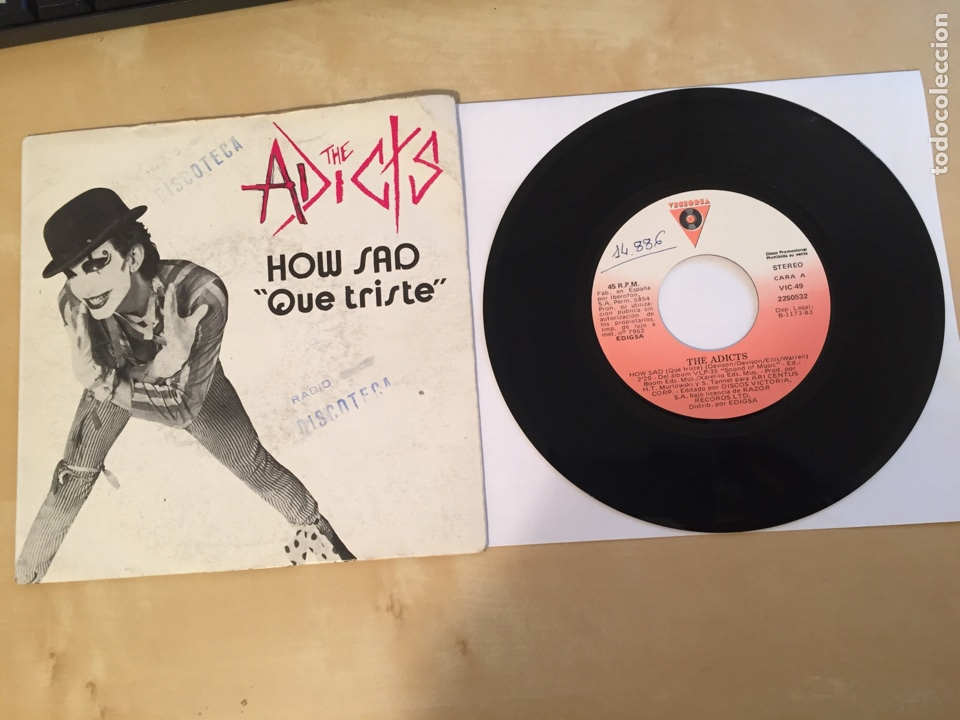 "THE ADICTS - HOW SAD (QUE TRISTE) - PROMO SINGLE 7"" - 1983 (Música - Discos - Singles Vinilo - Punk - Hard Core)"