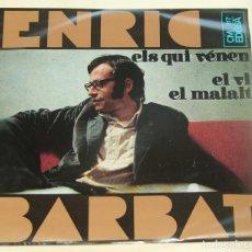 Discos de vinilo: ENRIC BARBAT, EP, ELS QUI VÉNEN + 2, AÑO 1968. Lote 262141375